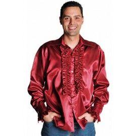 Déguisement chemise disco bordeaux homme luxe