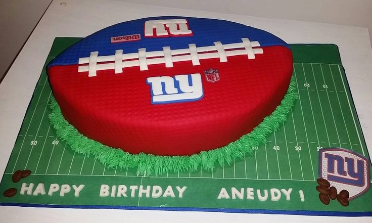 ny giants football cake