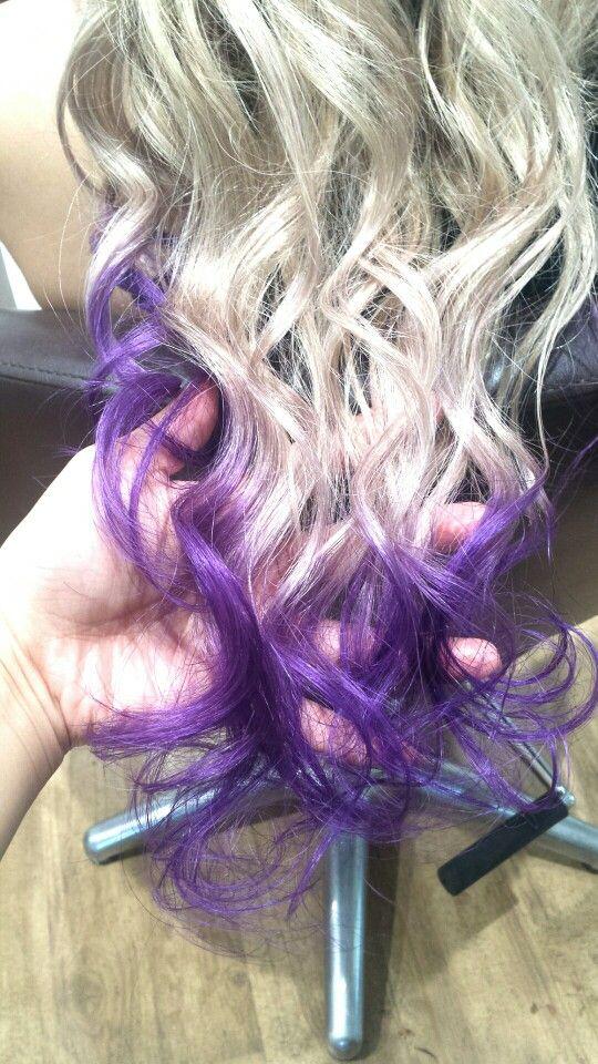 #Haircolor#hairstyles#purple#extension#white#dipdye#ヘアカラー#ディップダイ#毛先#紫#白#Hairsalon#Welina#hitomiyanagida