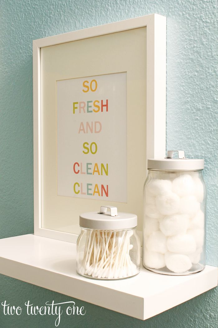 "Colorful Bathroom Printable {Free Printable} ""so fresh and so clean clean"""
