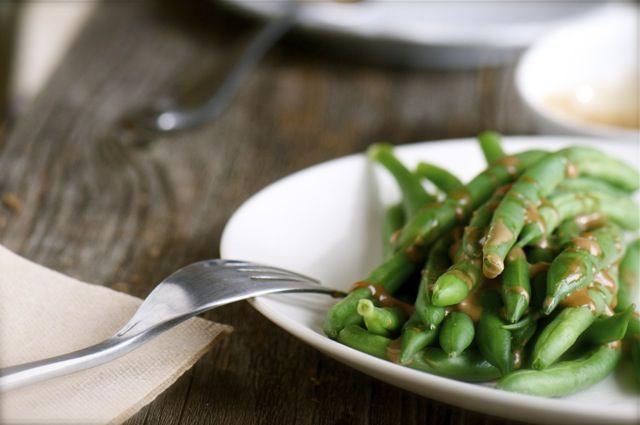 Green Beans with Balsamic Vinaigrette Glaze: Balsamic Vinaigrette, Food Eating, Vegans Green, Vinaigrette Glaze, Beans Recipes, Heart Green, Steam Green Beans, Mr. Beans, Food Glorious Food