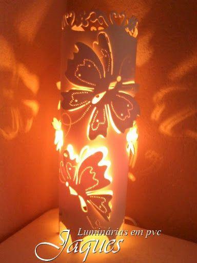 luminárias em pvc borboletas