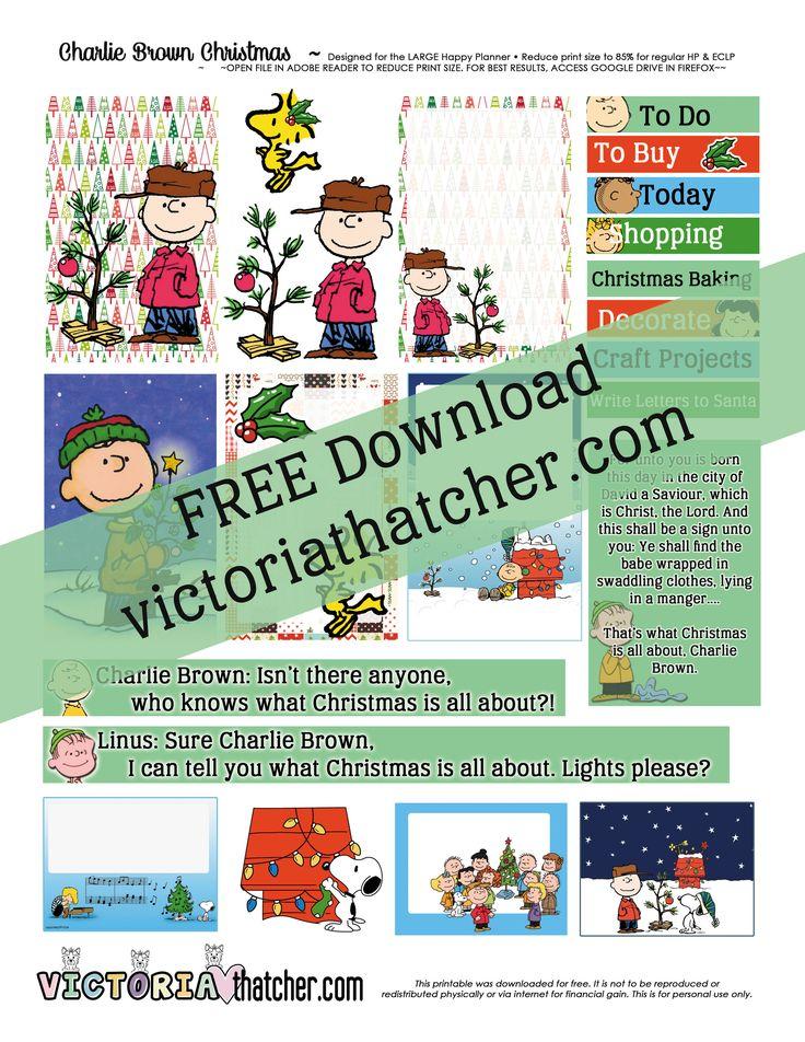 Charlie Brown Christmas Planner Printable - Victoria Thatcher