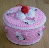 "Darling ""Hello Kitty Box""...I so want a pattern for this!"