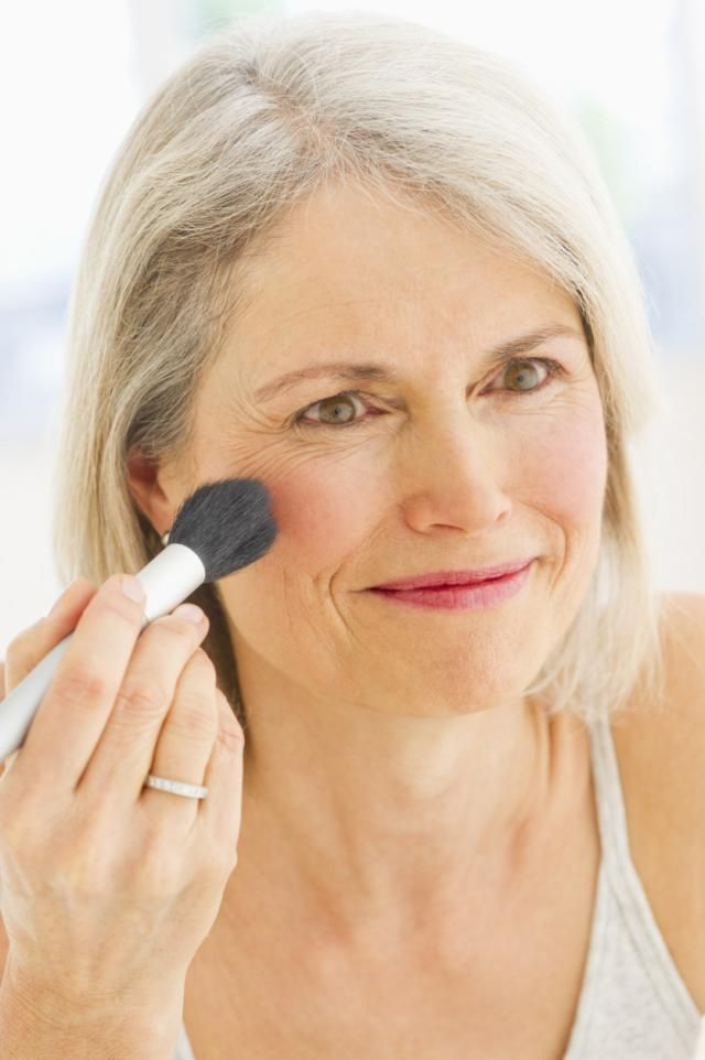My Best Makeup Tips for Women Over 50: Add a Pop of Blush to Your Cheeks... BLEND WELL ON THE APPLES OF YOUR CHEEKS