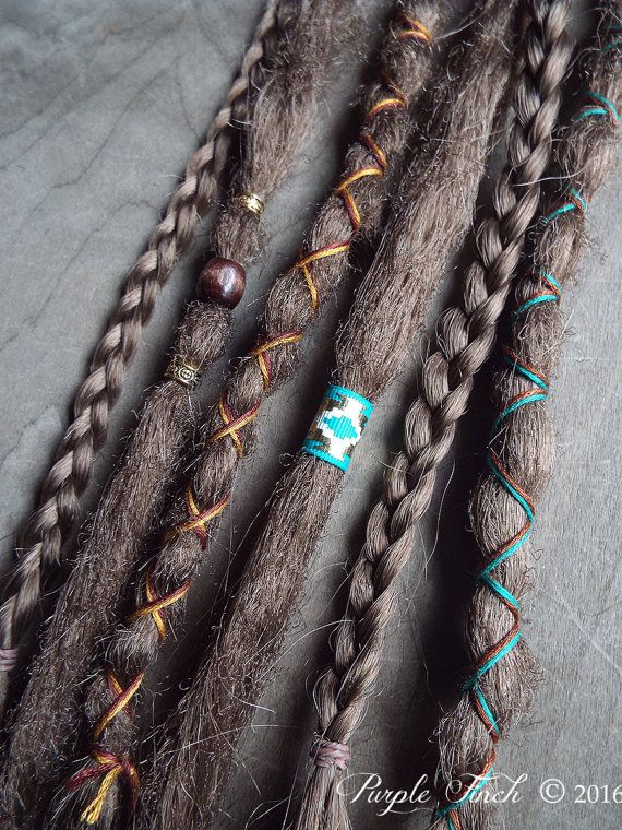 6 Custom Standard Clip-in Synthetic Dreadlock Extensions Boho