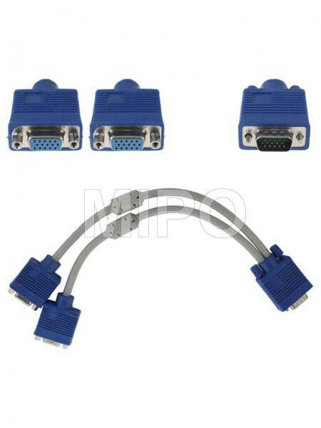 Kabel VGA to 2 VGA Female  - Kabel VGA Male to 2 VGA Female - Panjang 30 cm  Harga rp125.000 Info detail di : www.tokomipo.com