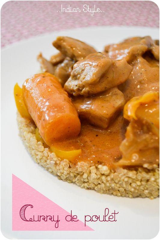 ..Curry de poulet au lait de coco et garam massala (à la mijoteuse)..