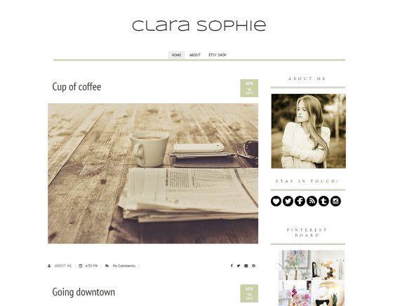 Blogger Modern Template  Premade Template  by DigitalBeautiful