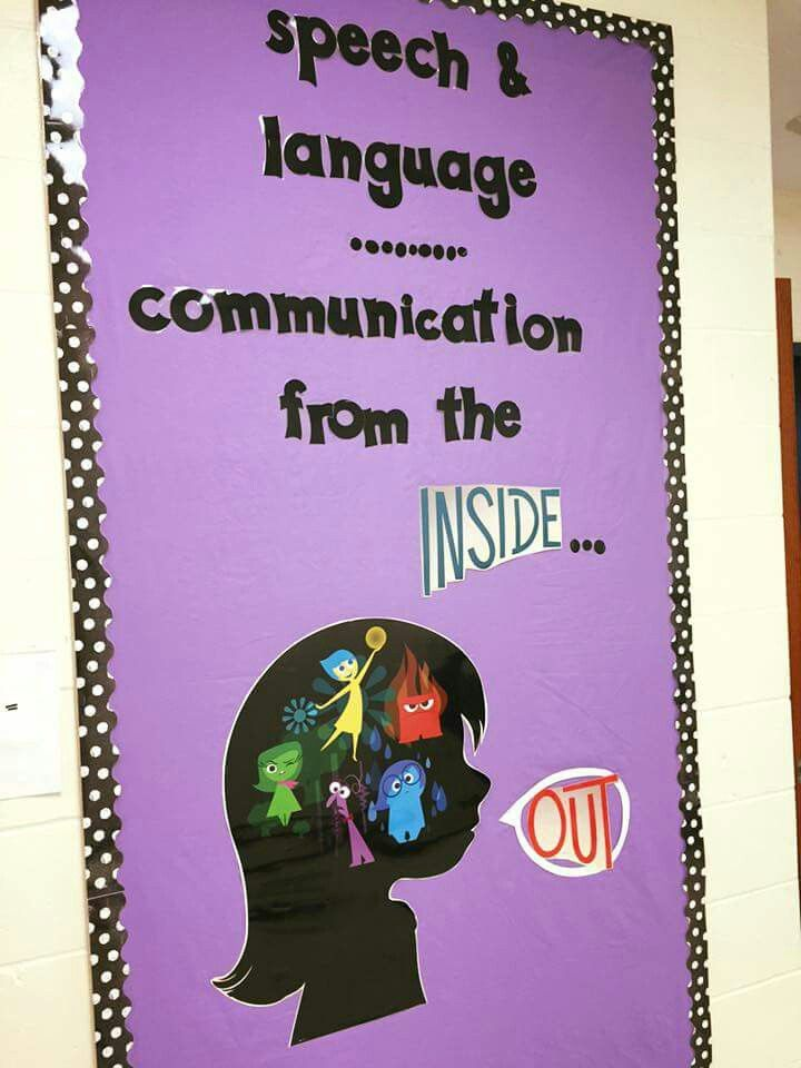 Modern Classroom Themes ~ Communication from the inside out slp bulletin board and