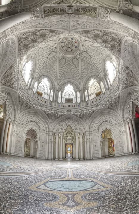 White Room Sammezzano Castle Tuscany Architectural