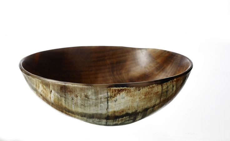 T-6, Smoked horn plate, 21 cm www.thetravellingband.dk