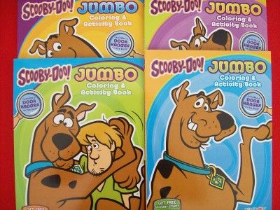 scooby doo jumbo coloring activity book 4 brand new