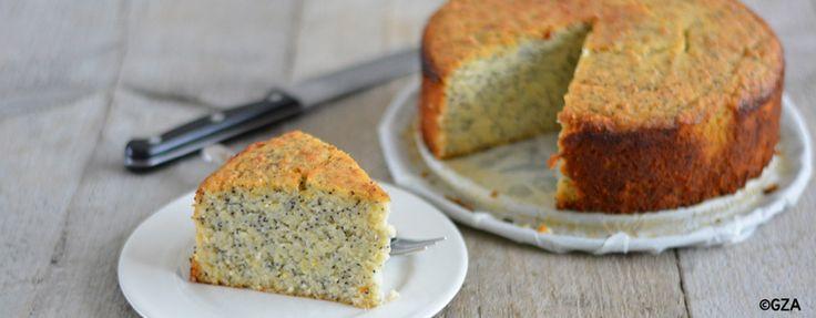 Glutenvrije citroen maanzaad cake