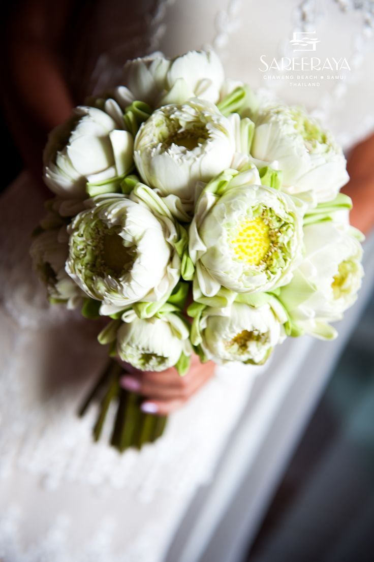 34 best bouquets images on pinterest branches wedding stuff and white open lotus flower bouquet dhlflorist Images