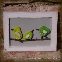 Jarní tvoření - obrázek s ptáčky