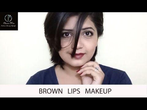 Brown Lips Makeup | Classic Mia - YouTube
