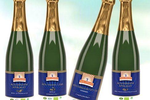 Kung Markattas nya alkoholfria, mousserande drycker består av två Äppelmuster samt ett Vitt Chardonnay-vin. Samtidigt lanseras en Äkta Fransk Äppelcider tillverkad på traditionellt vis, med låg alkoholhalt.