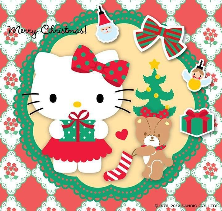 Hello Kitty Merry Christmas Wallpaper gallery