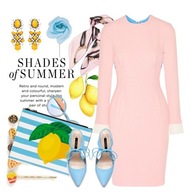 """Pink lemonade"" by pensivepeacock ❤ liked on Polyvore featuring Gucci, Roksanda, Venessa Arizaga, SHOUROUK, Chicnova Fashion, Zara, Edward Achour, women's clothing, women's fashion and women"