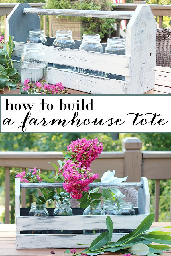 DIY farmhouse wood tote tool box home decor tutorial - How to Build a Wood Tote. Farmhouse Inspired Decorating Idea @refreshrestyle1