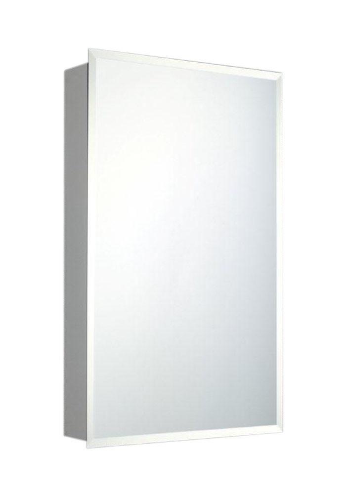 Deluxe Series Recessed Medicine Cabinet Beveled Edge Mirror 16x26