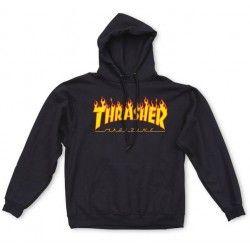 Sweat-shirt Thrasher Flame Black