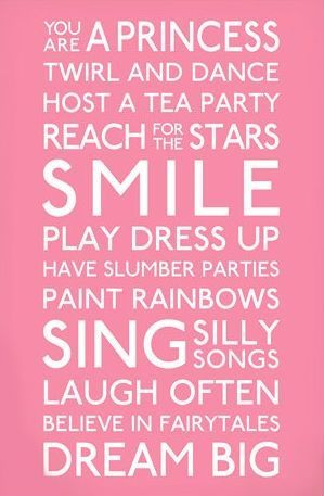Little Girl Princess Birthday Quotes on Quotes For Playroom