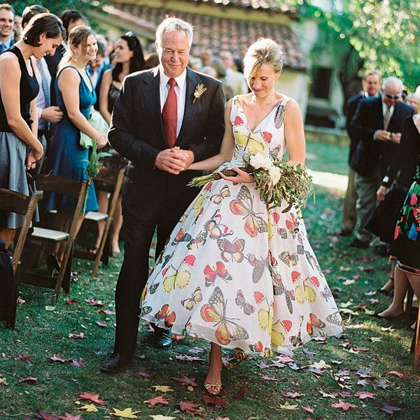 Our Favorite Father Daughter Moments Colorful Wedding Dressescolorful