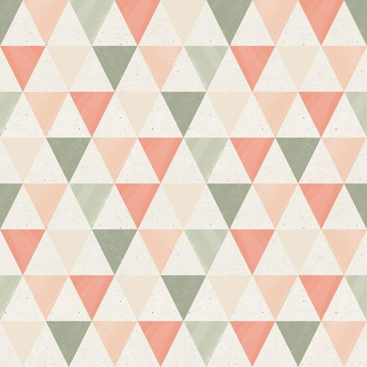 Papel de Parede Geometrico 1747 As cores dependem do sexo do bebê.