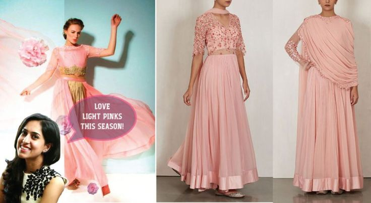 Bridal fashion tips for the trousseau for Indian weddings by fashion designer Ridhi Mehra | Ileana Cruz walks the ramp | Pastel light pink colour for Indian Brides This season | Curated by Witty Vows
