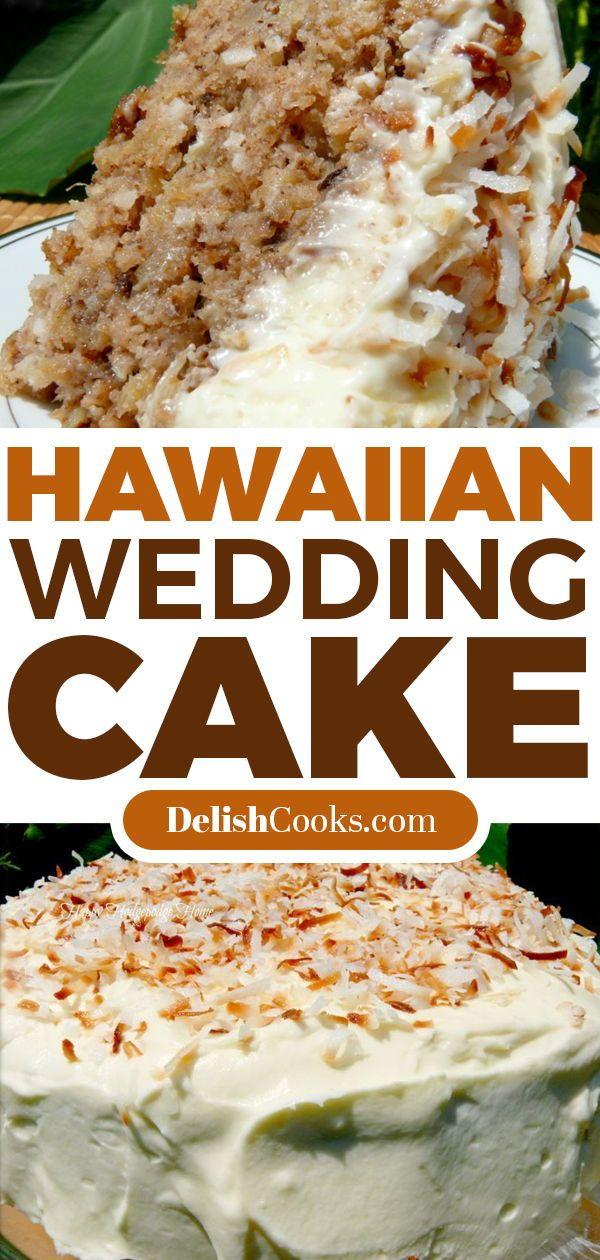 Hawaiian Wedding Cake With Whipped Cream Cheese Frosting Dessert Hawaii