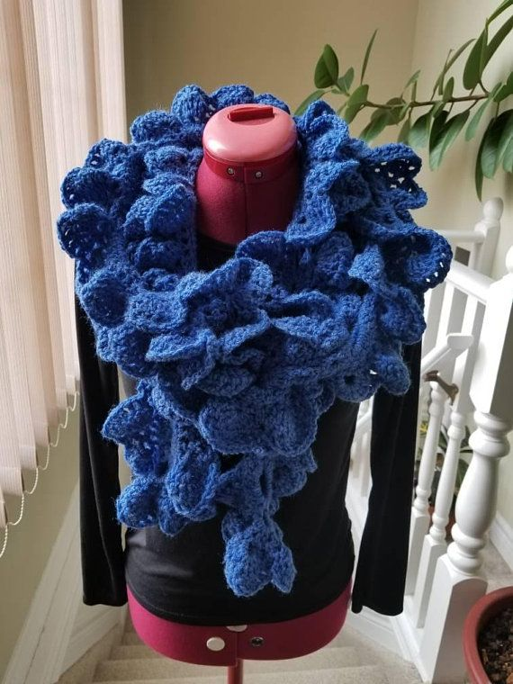 Flower scarf, crochet scarf, mother's day gift, handmade scarf