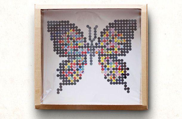 【コクヨのコウコク・ギャラリー22】穴あけパンチとチラシで昆虫採集 by 大図まこと