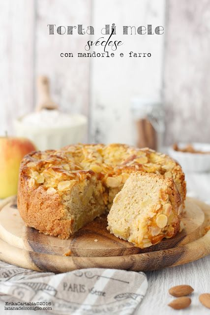"""Oggi una ricetta semplice e facile da preparare, una di quelle a cui difficilmente si può dire di no: la torta di mele! Questa è una versione particolare, definita """"svedese"""", con aggiunta di mandorle"""