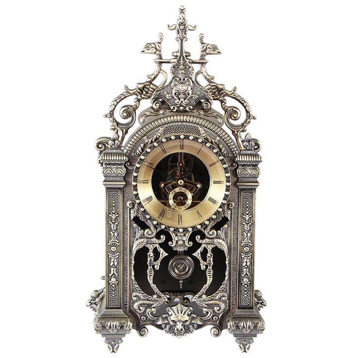 Un reloj de péndulo de reloj cuadrado del metal moda Europea sencilla sala de reloj antiguo Reloj de pared Europea muere en Estatuillas y Miniaturas de Hogar y Jardín en AliExpress.com | Alibaba Group