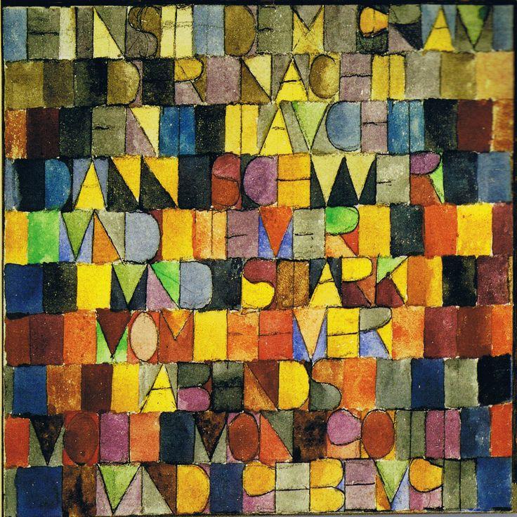 Tijolos e madeira- Escola de Arte Atividades: Paul Klee Letras Inspirado