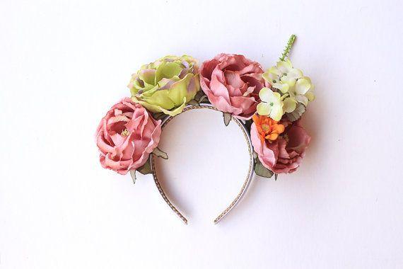 statement rose crown headband // wedding bridal by kisforkani