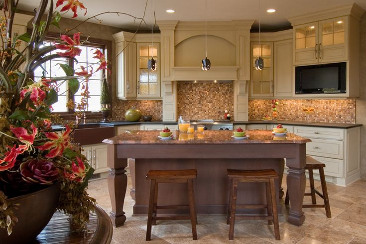 Luxury Kitchen has an open feel in Plan 013S-0009   House Plans and More