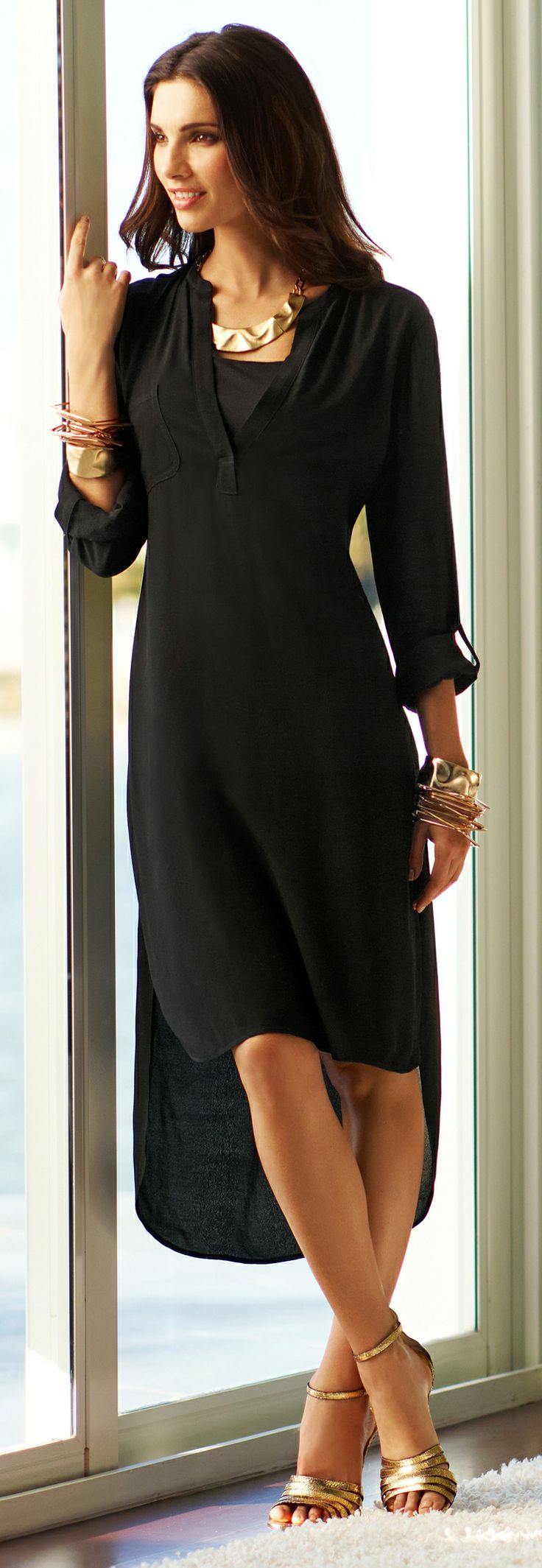 Fade to black: Spring's latest take on the LBD. Relaxed but elegant... I'm trying to decide if I like this trend... This dress