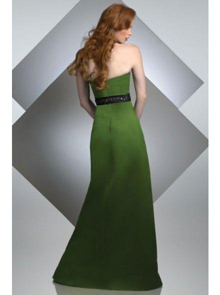 A-Linie Traegerlos mit Bodenlang in Gruen Brautjungferkleid 001150058005 für 97€ # landybridal Elegant fashion dream bridesmaid dress style
