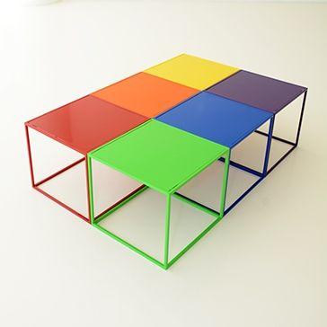 17 best images about summer inspirations on pinterest for Bright colored side tables