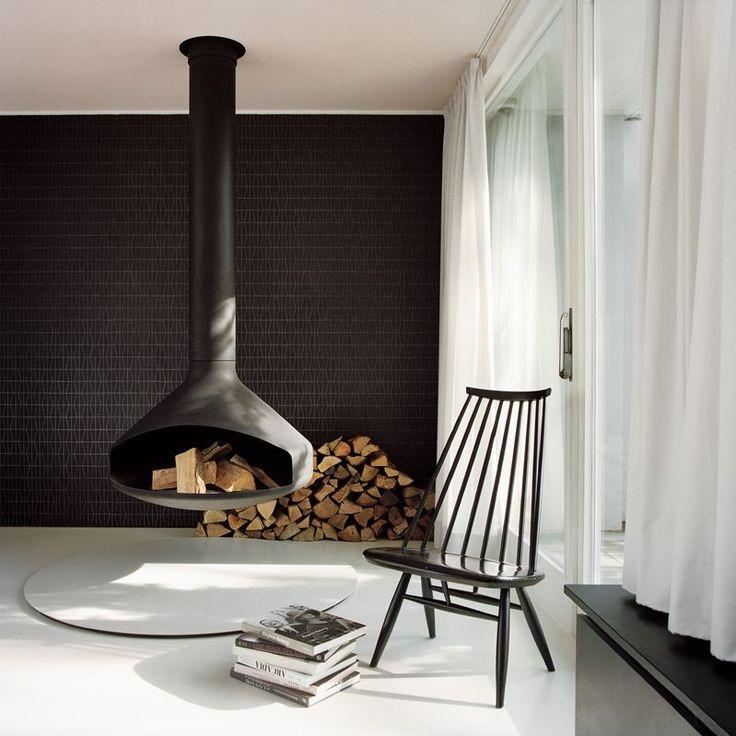 Courtyard House Händelalle - Picture gallery #architecture #interiordesign #fireplace
