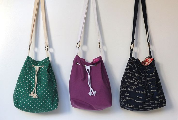 El patrón bastante Bucket Bag-Libre y Tutorial | Sew Mama Sew | coser excepcional, acolchar, y tutoriales de costura desde 2005.