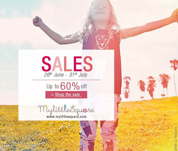 KIDS' FASHION SALE  Up to 60% off!  www.mylittlesquare.com