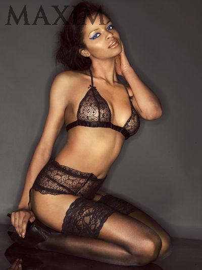 Model Rissikat Bade Miss London 2011 For Maxim Blacks
