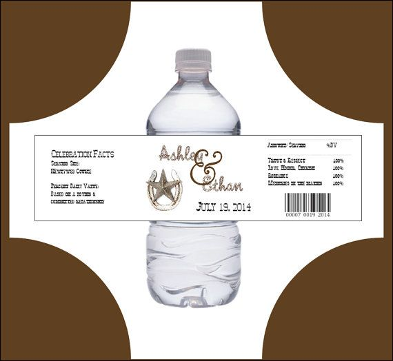 100 Western Rustic water bottle labels  by creatingapapermemory, $12.00