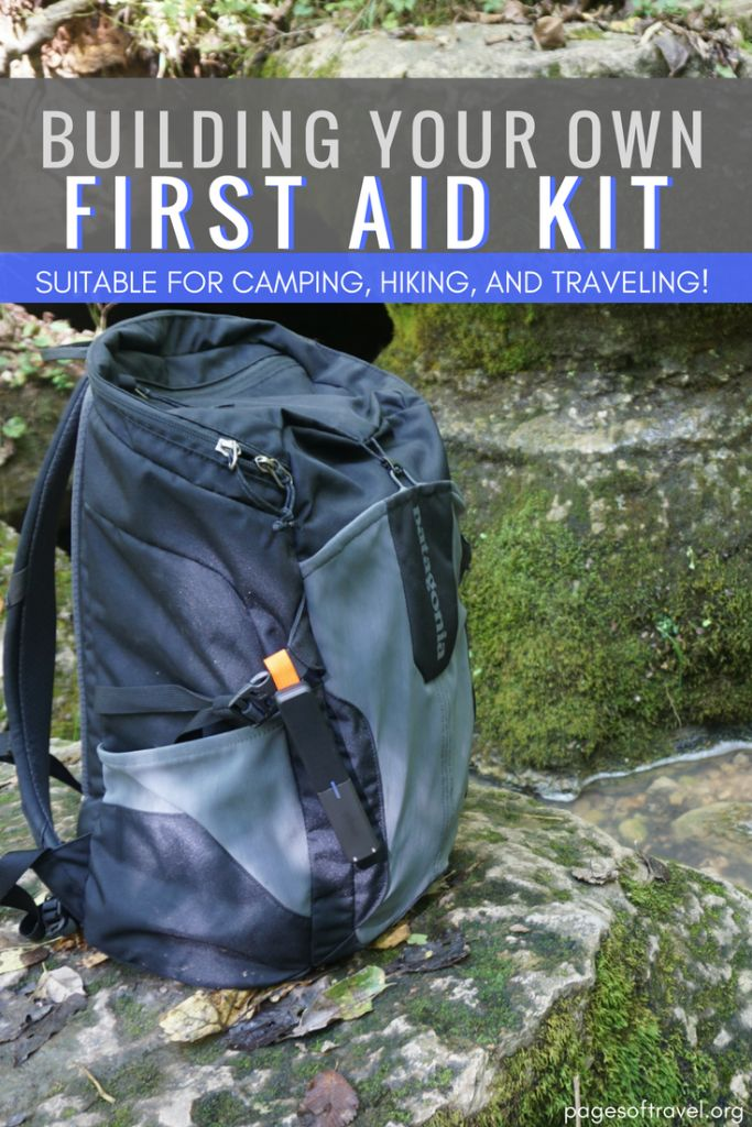 Ever wondered what should be included in building your own first aid kit? Check out this comprehensive list that is perfect for camping, hiking, and traveling! www.pagesoftravel.org