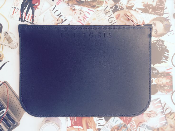 www.thejonesgirls.co.nz Black Mini Leather Clutch