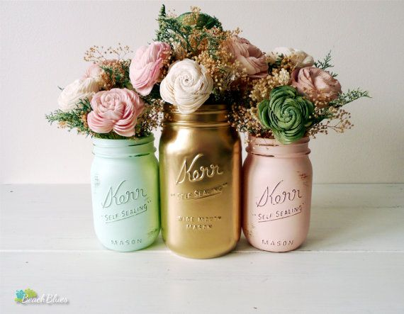 Mint Blush and Gold Spring and Summer Wedding by BeachBlues